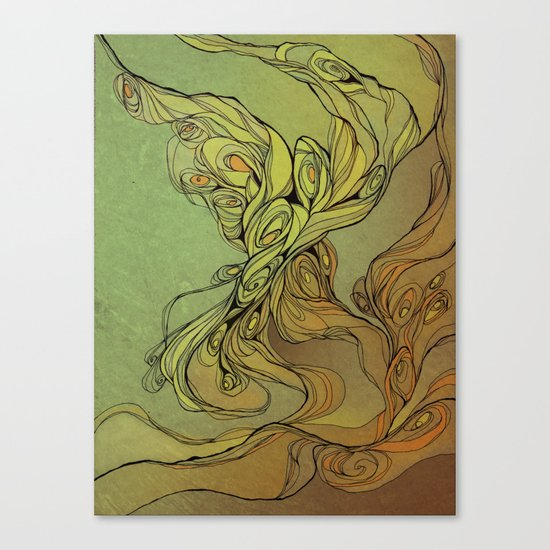abstract floral composition Canvas Print