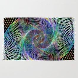 Fractal spiral Rug