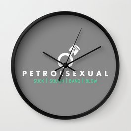 PETROLSEXUAL v6 HQvector Wall Clock