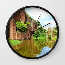Abandoned Rock Quarry Wall Clock