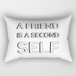 A friend is a second self. Aristotle Rectangular Pillow