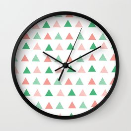Bouncy Triangles // Pattern Art Wall Clock
