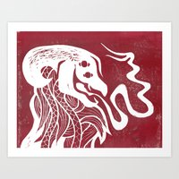 George in Red Art Print