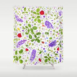 Leaves and flowers (14) Shower Curtain