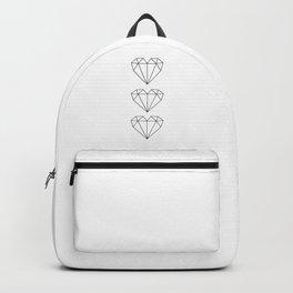 Diamond Shaped heart geometric art Backpack