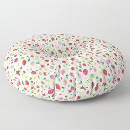 Summer Strawberry Fields Floor Pillow