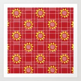 Red Hot Sunny Days Art Print