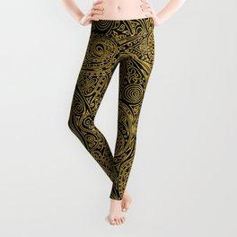Golden spiral pattern Leggings