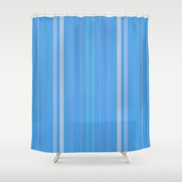 Forget Me Not Blue Shower Curtain