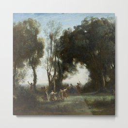 """Jean-Baptiste-Camille Corot """"A Morning. The Dance of the Nymphs"""" Metal Print"""