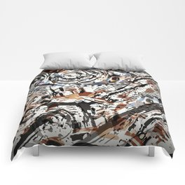 Reverse Abstract V-Twin Comforters