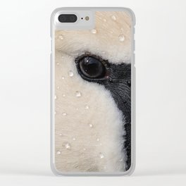 Mute Swan in Winter - CloseUp Clear iPhone Case