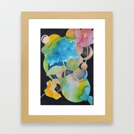 Mother Nature-The Sun, The Moon, The Earth and Some Flowers-Abstract Framed Art Print