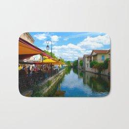 L'Isle-sur-la-Sorgue France River Cafe Bath Mat