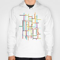 mondrian Hoodies featuring The map (after Mondrian) by Picomodi