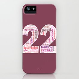 Life Path 22 (color background) iPhone Case