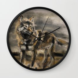Wolf totem steppenwolf Wall Clock