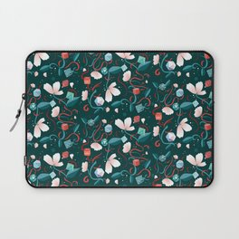 Flowers and Dice Laptop Sleeve