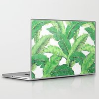 banana leaf Laptop & iPad Skins featuring Banana for banana leaf by Indulgencedecor