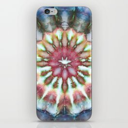 Kaleidoscope Burst Blue & Green iPhone Skin