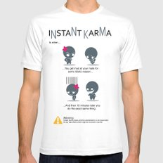 Instant Karma Mens Fitted Tee White MEDIUM