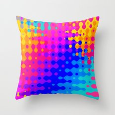 Totally Psychedelic Hippy Pattern Throw Pillow