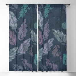 Abstract leaf painting Blackout Curtain