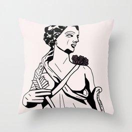 Artemis Goddess of the Moon Throw Pillow