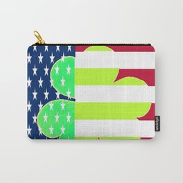 St. Patrick's Day Flag Irish Shamrock American Flag Colors Carry-All Pouch