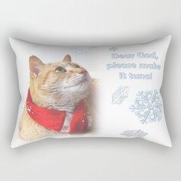 Dear God, Please Make It Tuna Rectangular Pillow