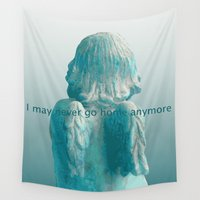 burlesque Wall Tapestries featuring I may never go home anymore by bravo la fourmi