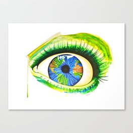 Green Oracle ( Green Eyed World ) - By Buttafly Canvas Print