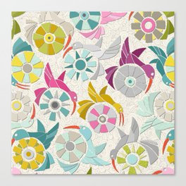 paper sunbirds pearl Canvas Print