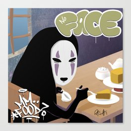 No Face Mm.. Food (MF Doom + Spirited Away) Canvas Print