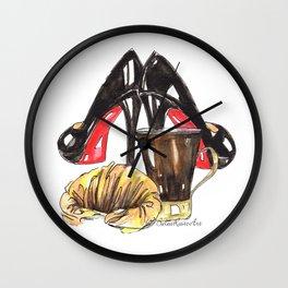 Petit-déjeuner in Louboutins  Wall Clock