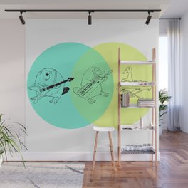 Keytar Platypus Venn Diagram Wall Mural