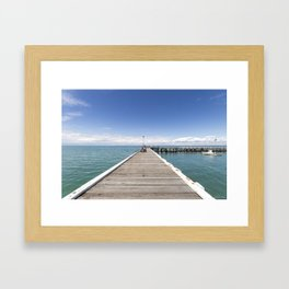 A great day for fishing Framed Art Print