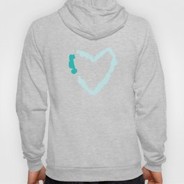 Two Tone Turquoise Broken Heart Series Hoody