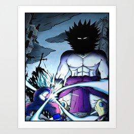 Goku vs Broly Art Print
