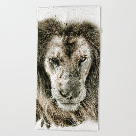 LION 3 Beach Towel
