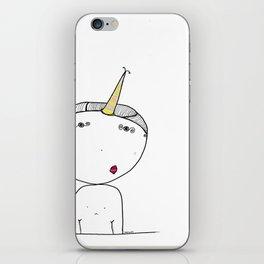 Boy Unicorn - Doodle cartoon Art print iPhone Skin
