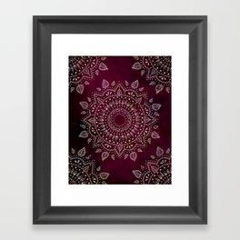 Wine Mandala Framed Art Print