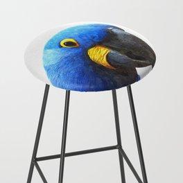 Blue Parrot Portrait Bar Stool