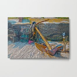 Boat Anchor and Crab Traps Metal Print