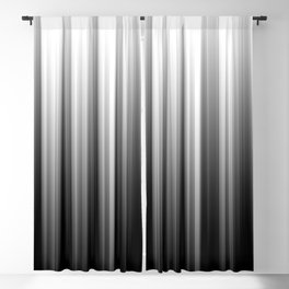Black And White Soft Blurred Vertical Lines - Ombre Abstract Blurred Design Blackout Curtain