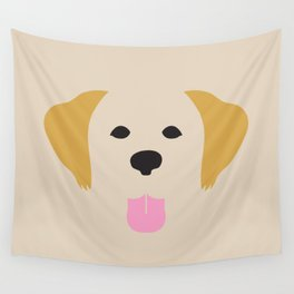 Golden Retriever Dog Illustration Wall Tapestry