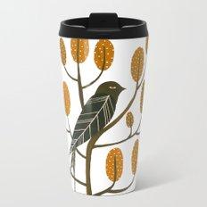 Swallow - golden brown Metal Travel Mug