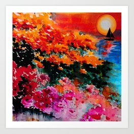 Sunsets Bloom Art Print