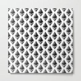 Ethereum - Crypto Fashion Art (Medium) Metal Print