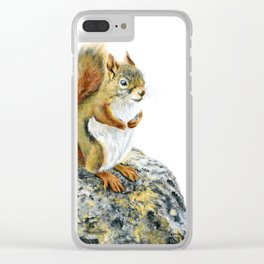 Bright-eyed and Bushy-tailed by Teresa Thompson Clear iPhone Case